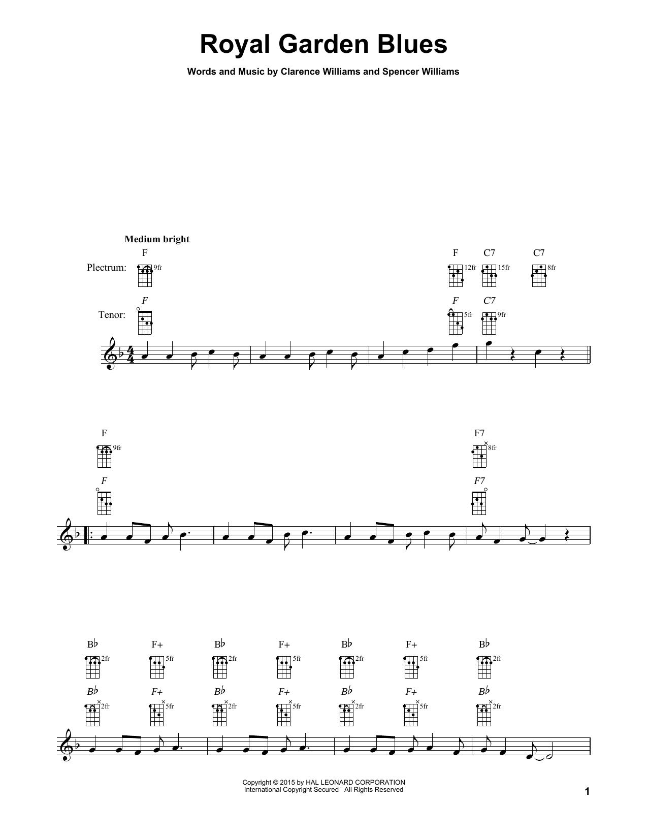 Royal Garden Blues (Banjo Tab)