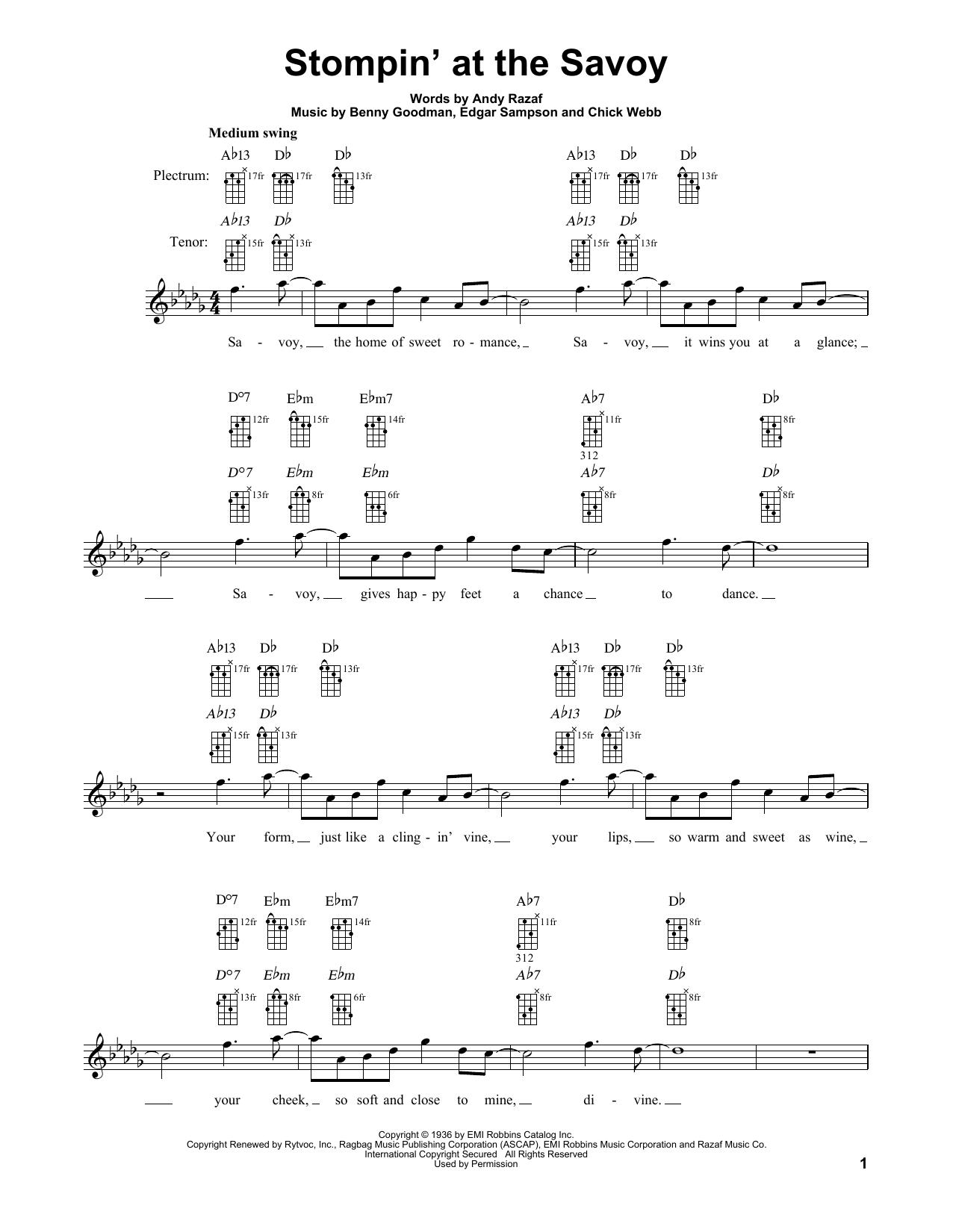 Stompin' At The Savoy Sheet Music