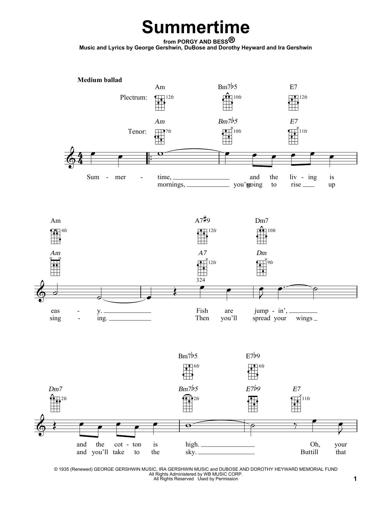 Summertime (Banjo Tab)