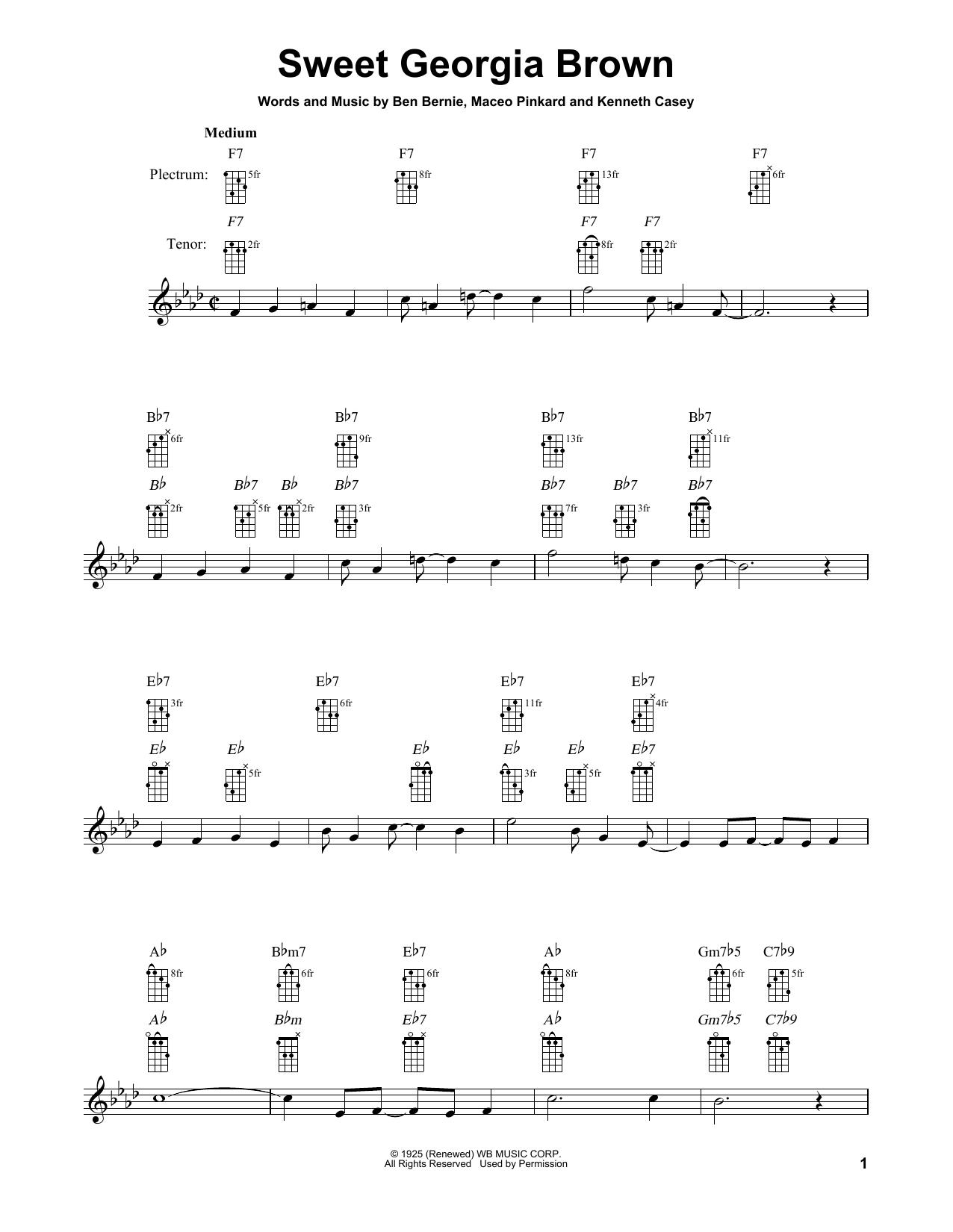 Sweet Georgia Brown (Banjo Tab)