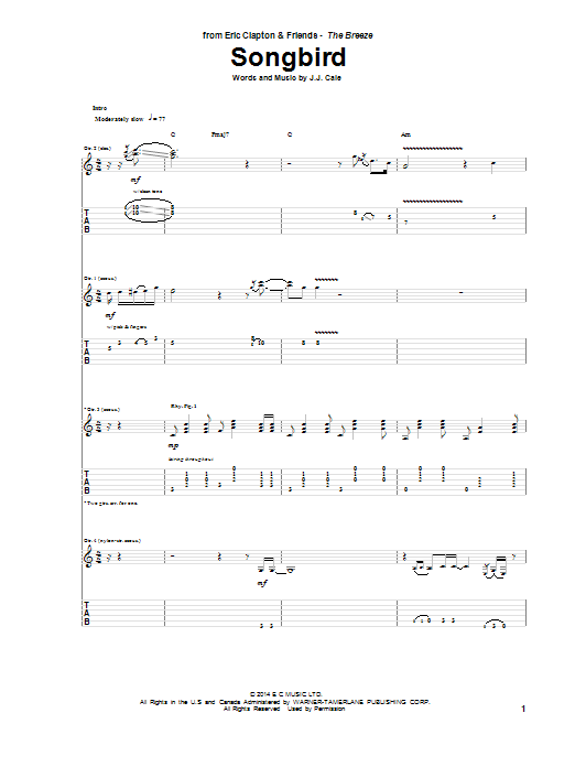 Songbird (Guitar Tab)