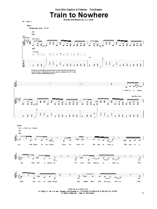 Train To Nowhere Sheet Music