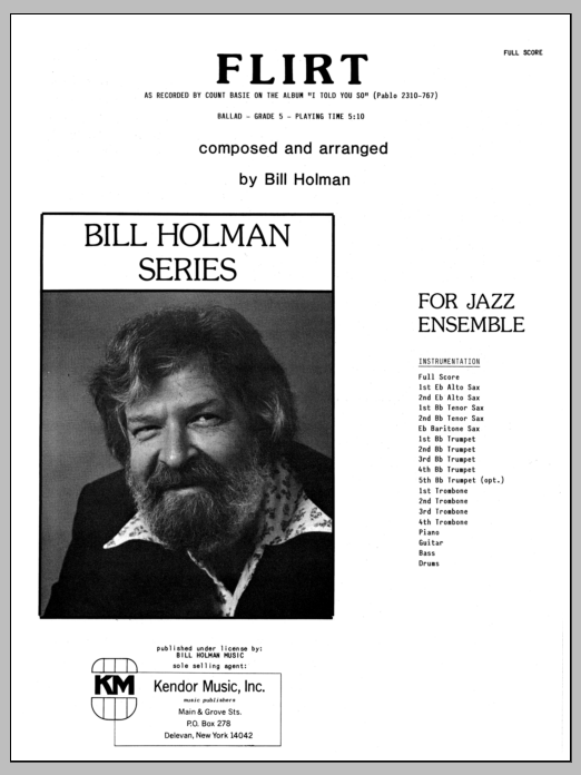 Flirt (COMPLETE) sheet music for jazz band by Bill Holman. Score Image Preview.