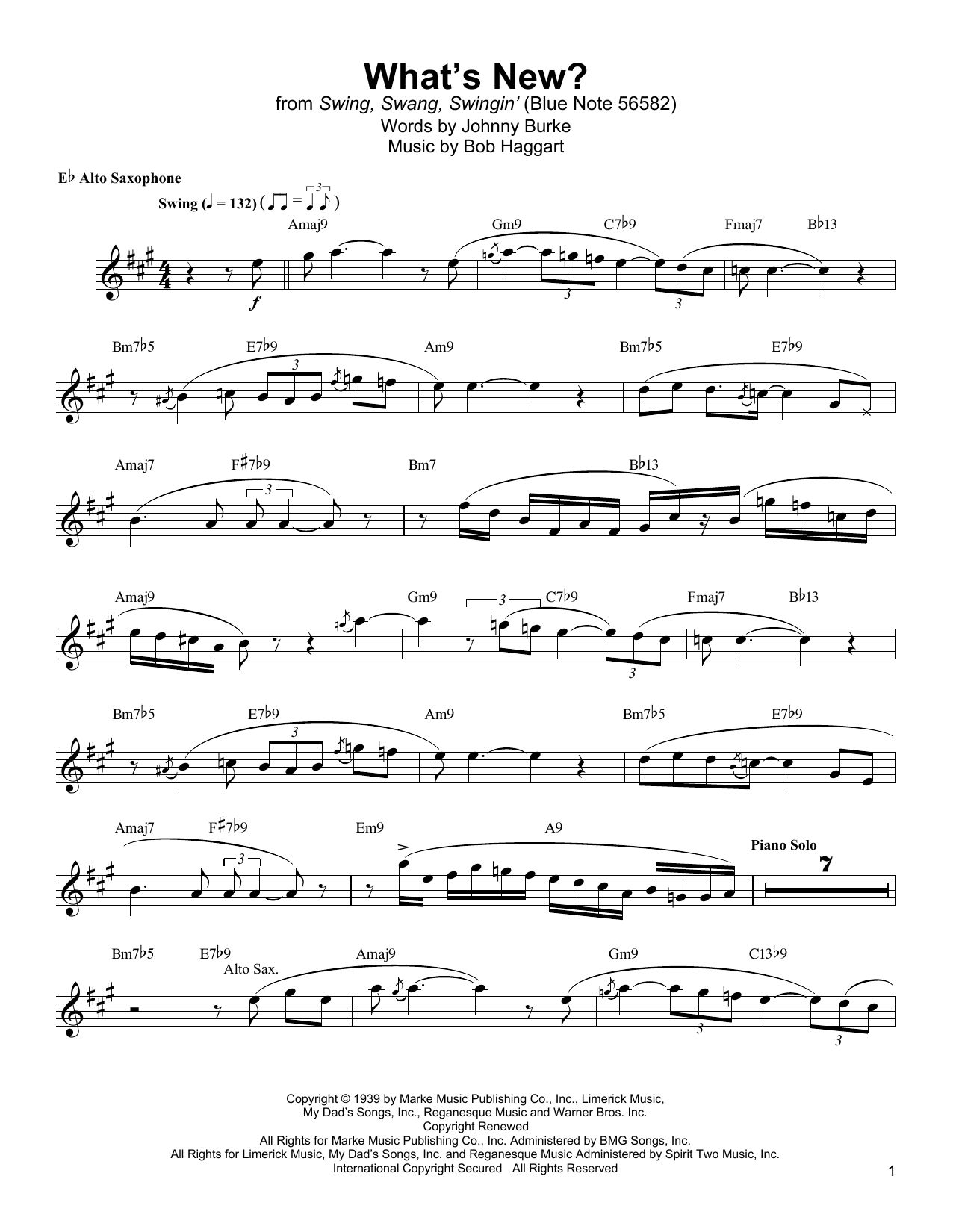 What's New? Sheet Music