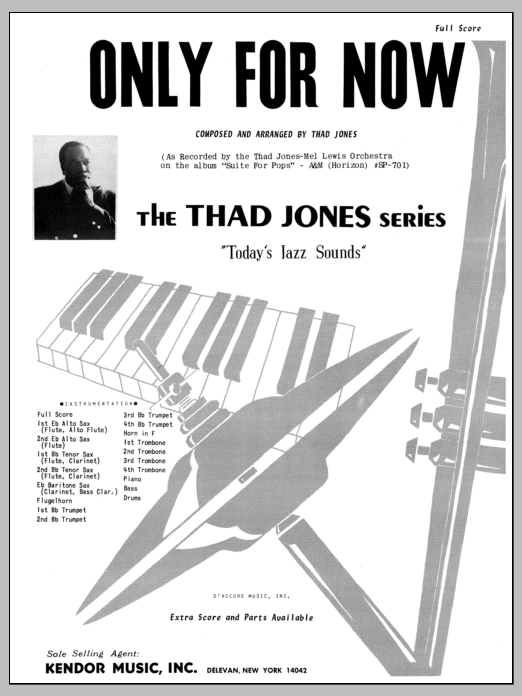 Only For Now (COMPLETE) sheet music for jazz band by Thad Jones. Score Image Preview.