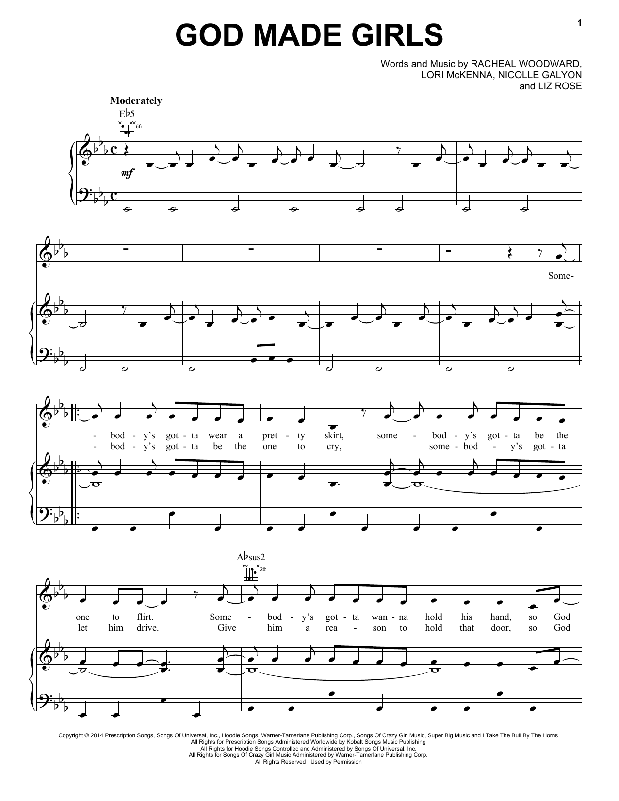 God Made Girls Sheet Music