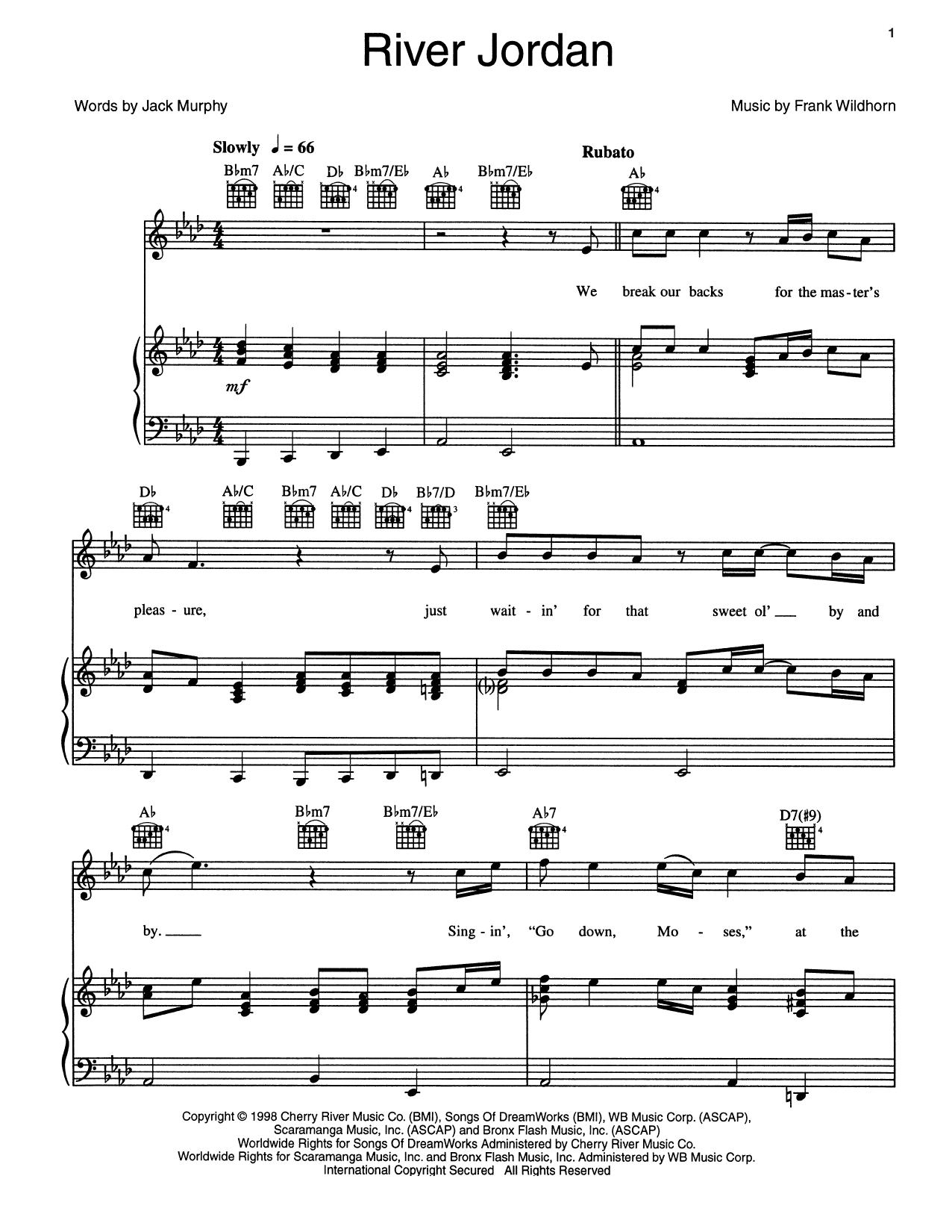 River Jordan Sheet Music