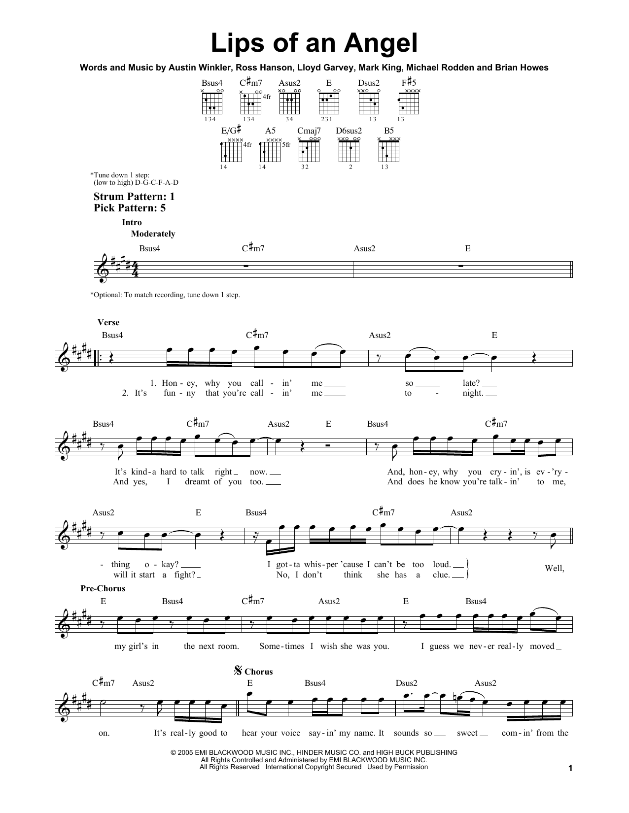 Lips Of An Angel Sheet Music