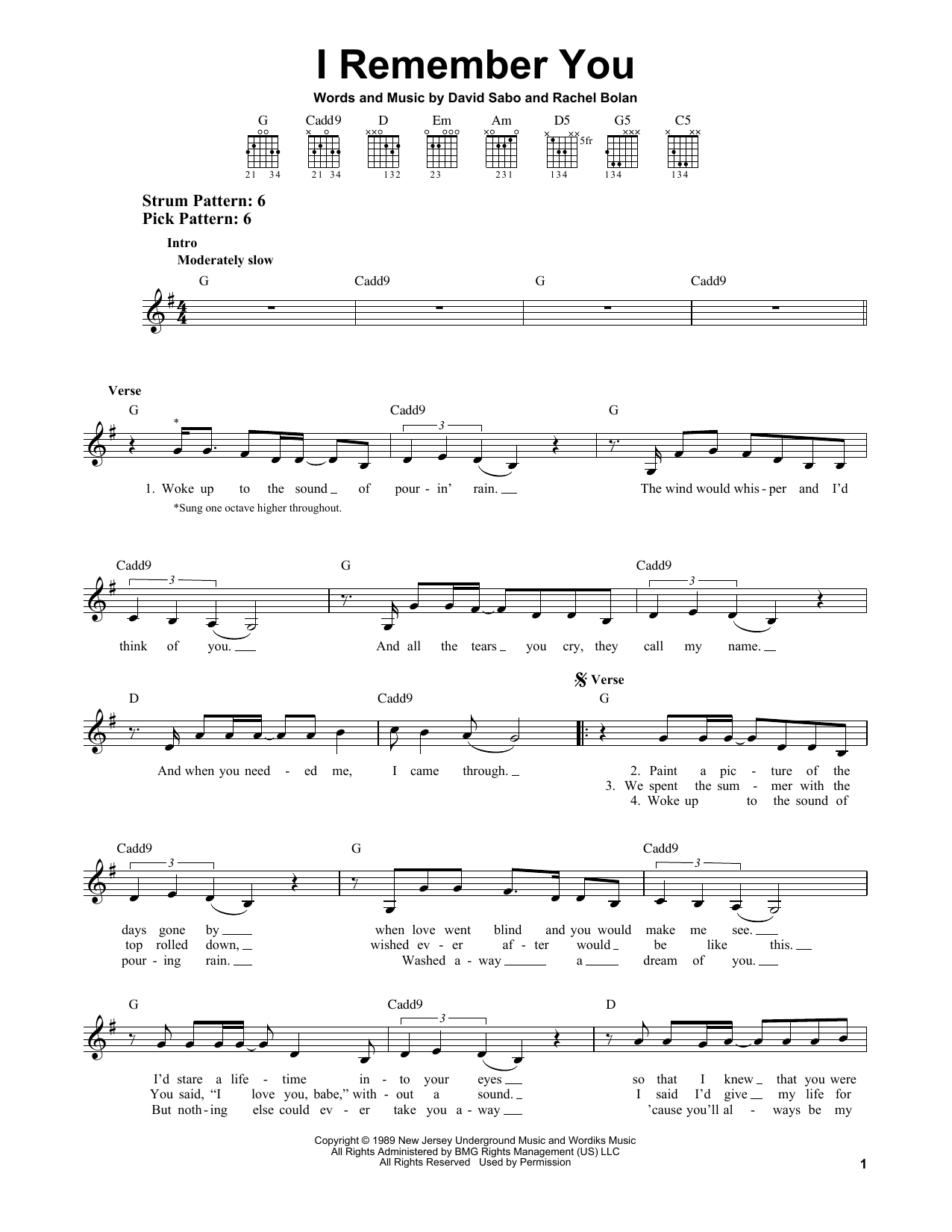 I Remember You Sheet Music