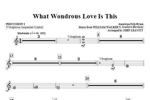 What Wondrous Love Is This - Percussion 1 (Choir Instrumental Pak)