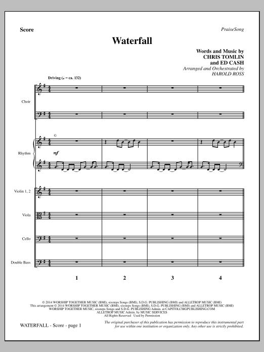 Waterfall - Full Score (Choir Instrumental Pak)