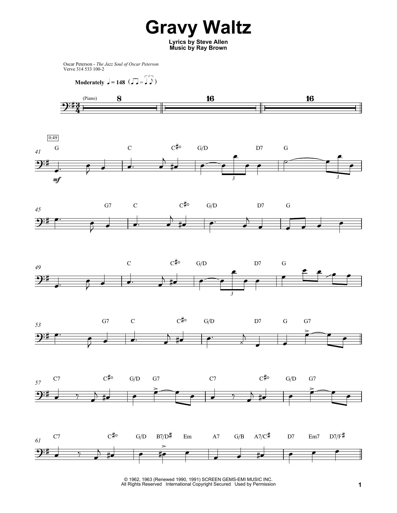 Gravy Waltz Sheet Music