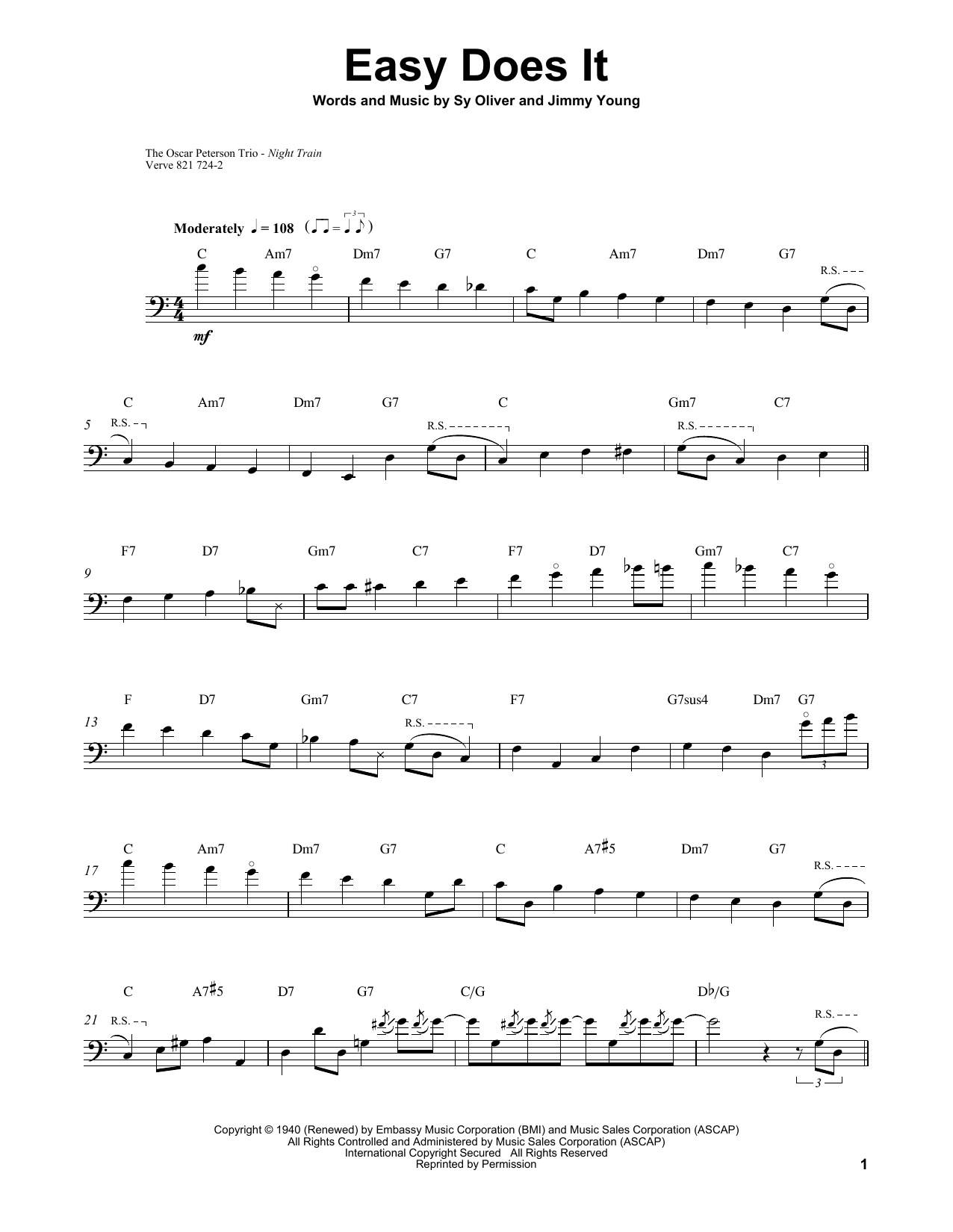 Easy Does It Sheet Music