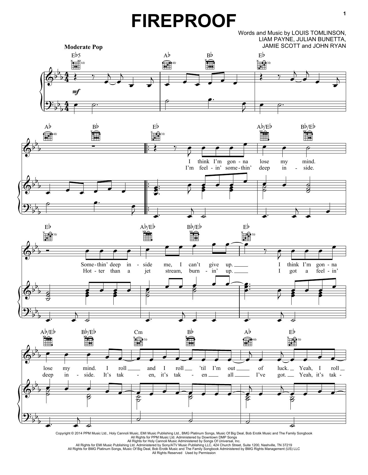 Fireproof Sheet Music