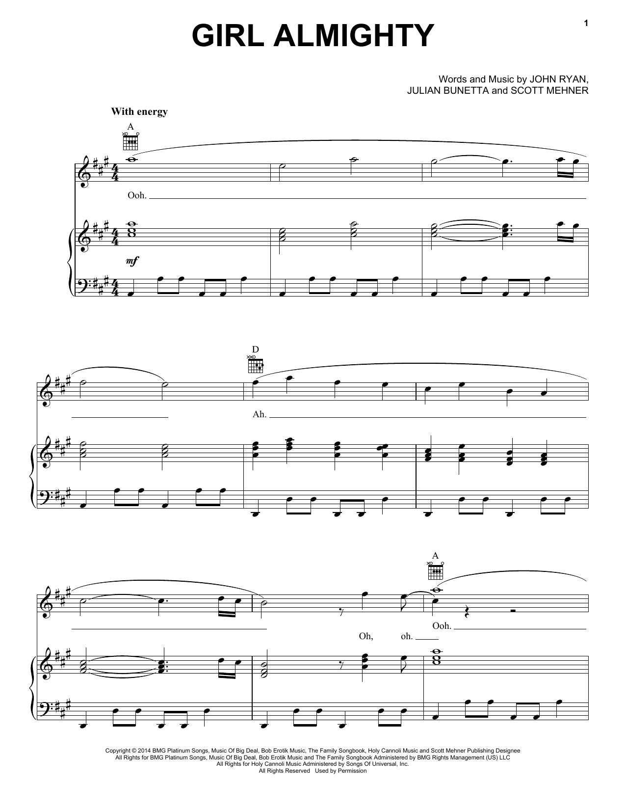 Girl Almighty Sheet Music