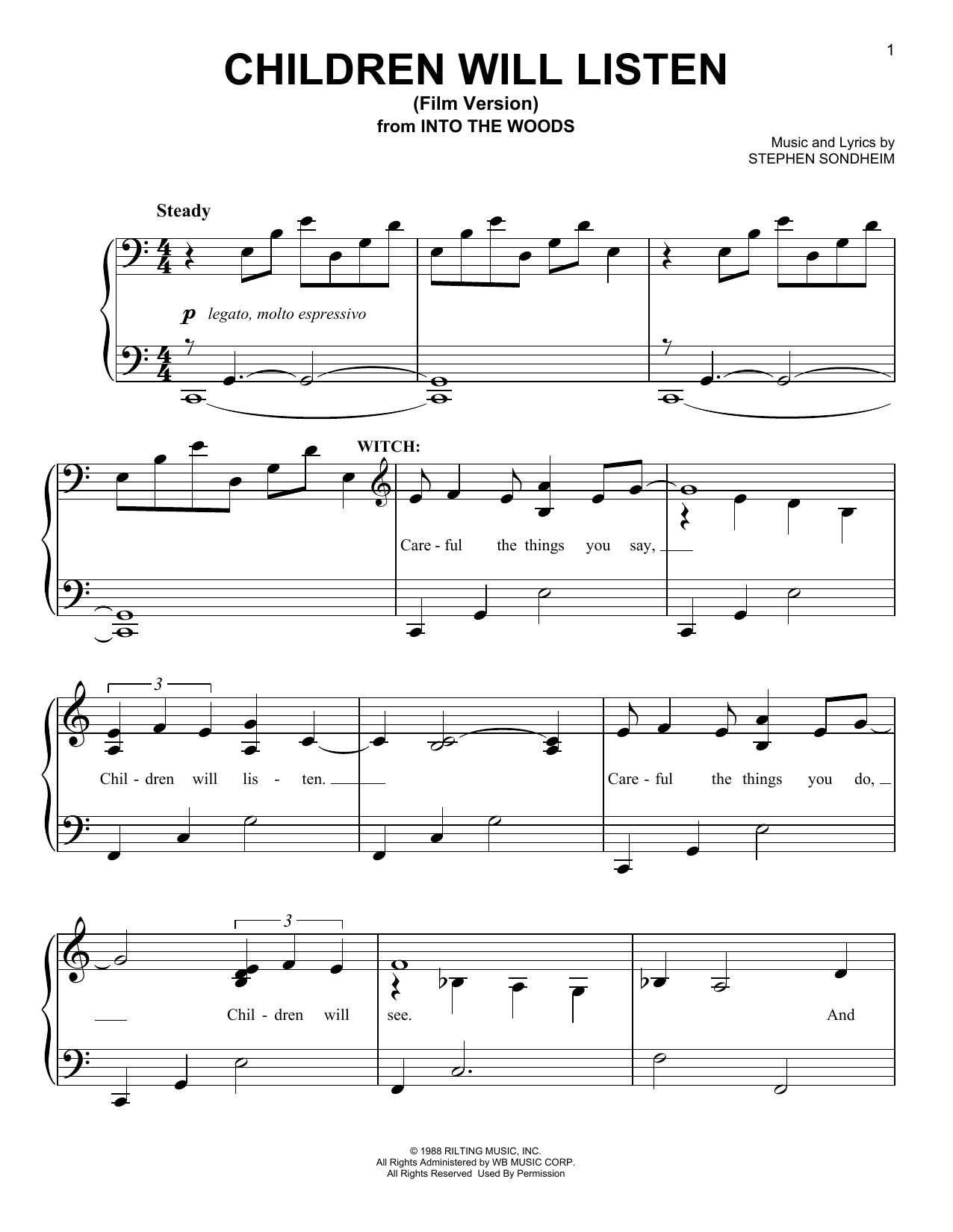 Children Will Listen (from 'Into The Woods - Film Version') Sheet Music