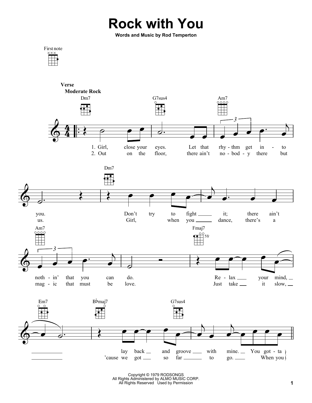 Rock With You Sheet Music