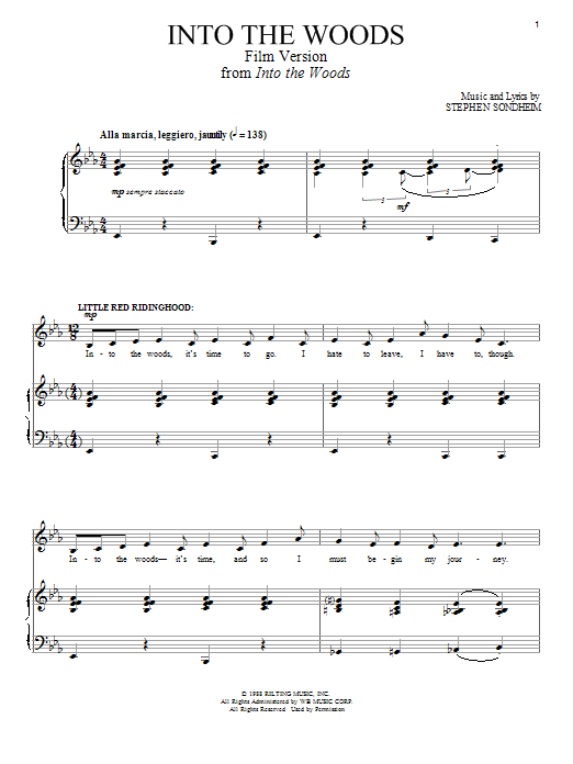 Into The Woods (Film Version) Sheet Music