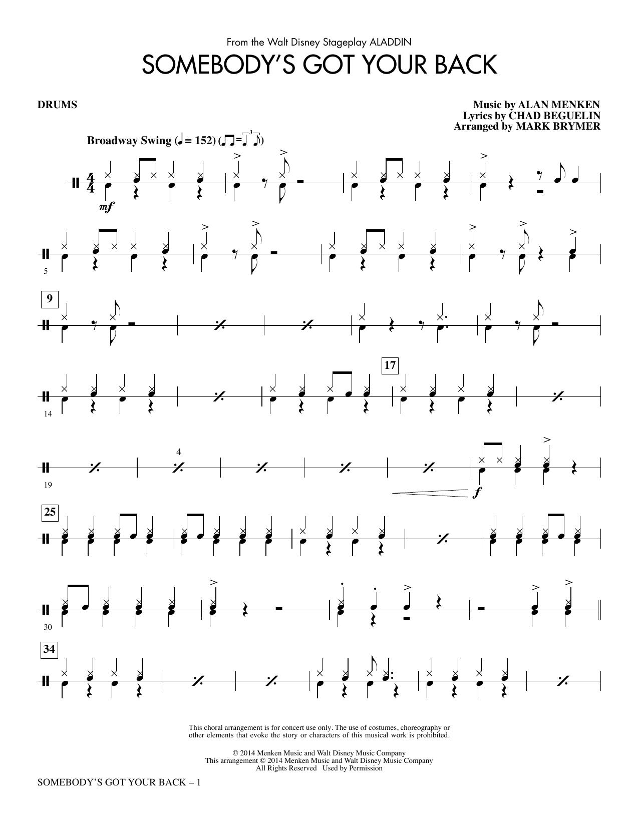 Somebody's Got Your Back - Drums (Choir Instrumental Pak)
