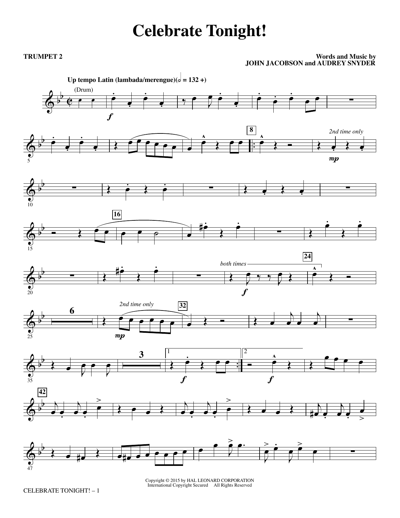 Celebrate Tonight! - Trumpet 2 (Choir Instrumental Pak)