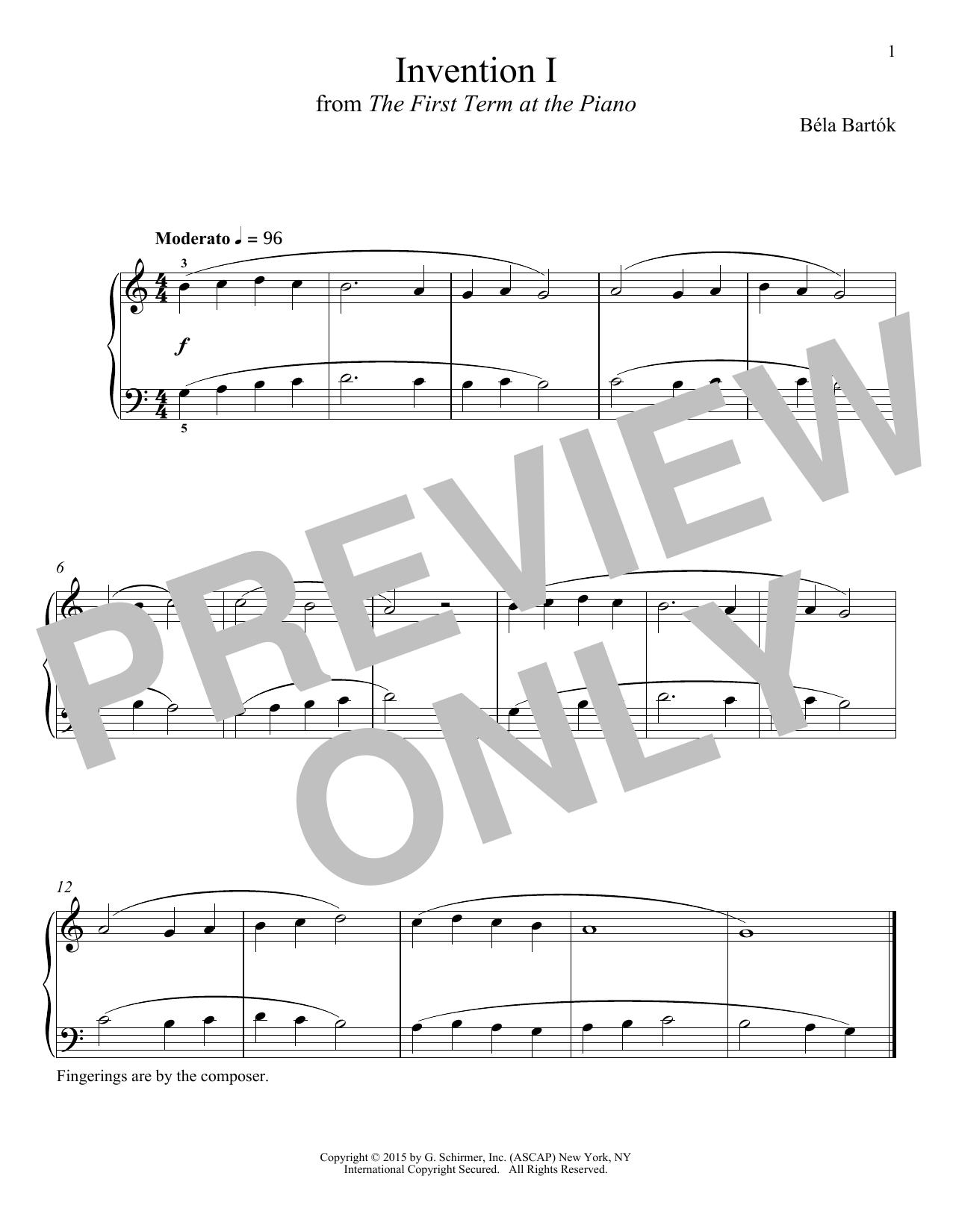 Invention I (Piano Solo)