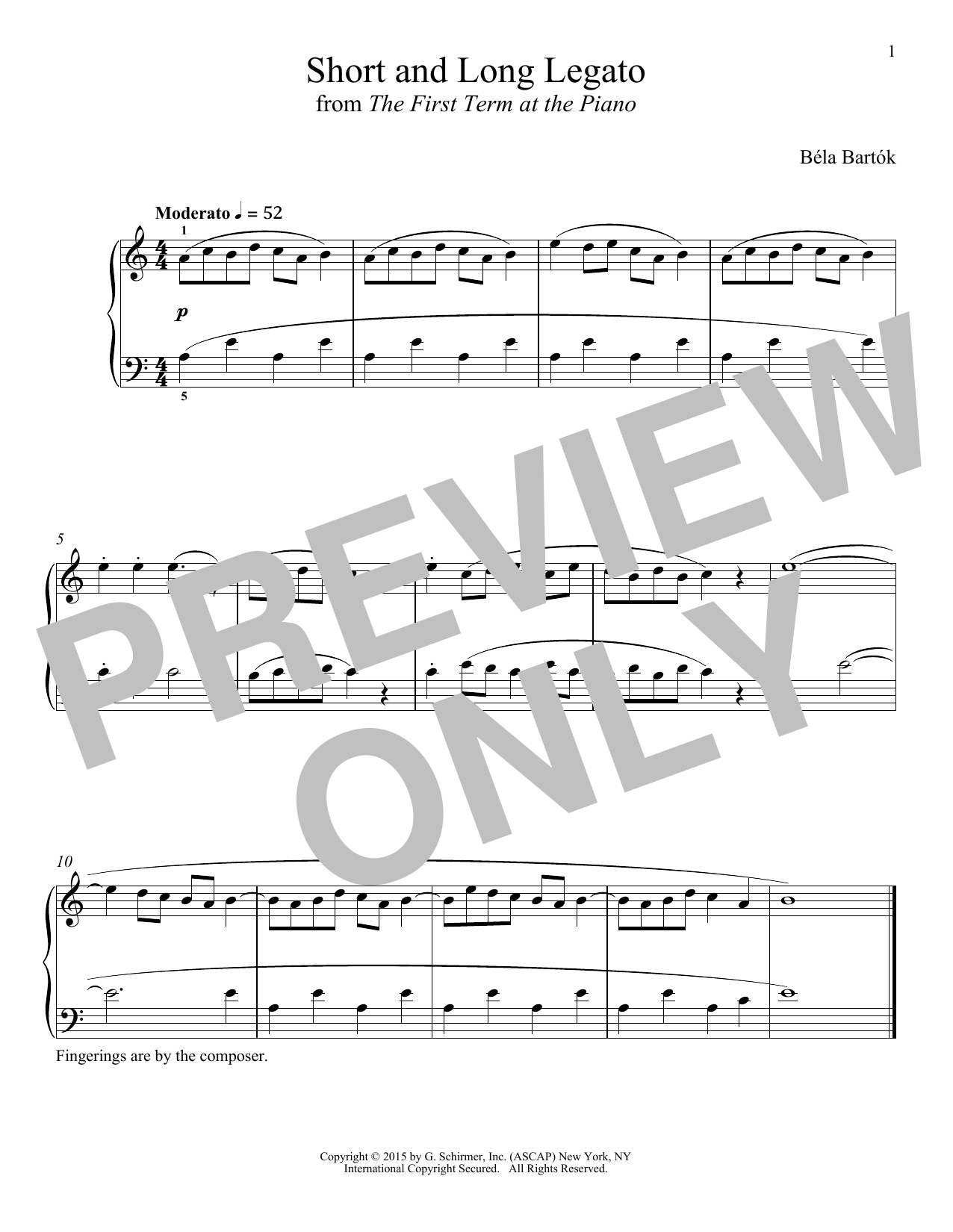 Short And Long Legato (Piano Solo)