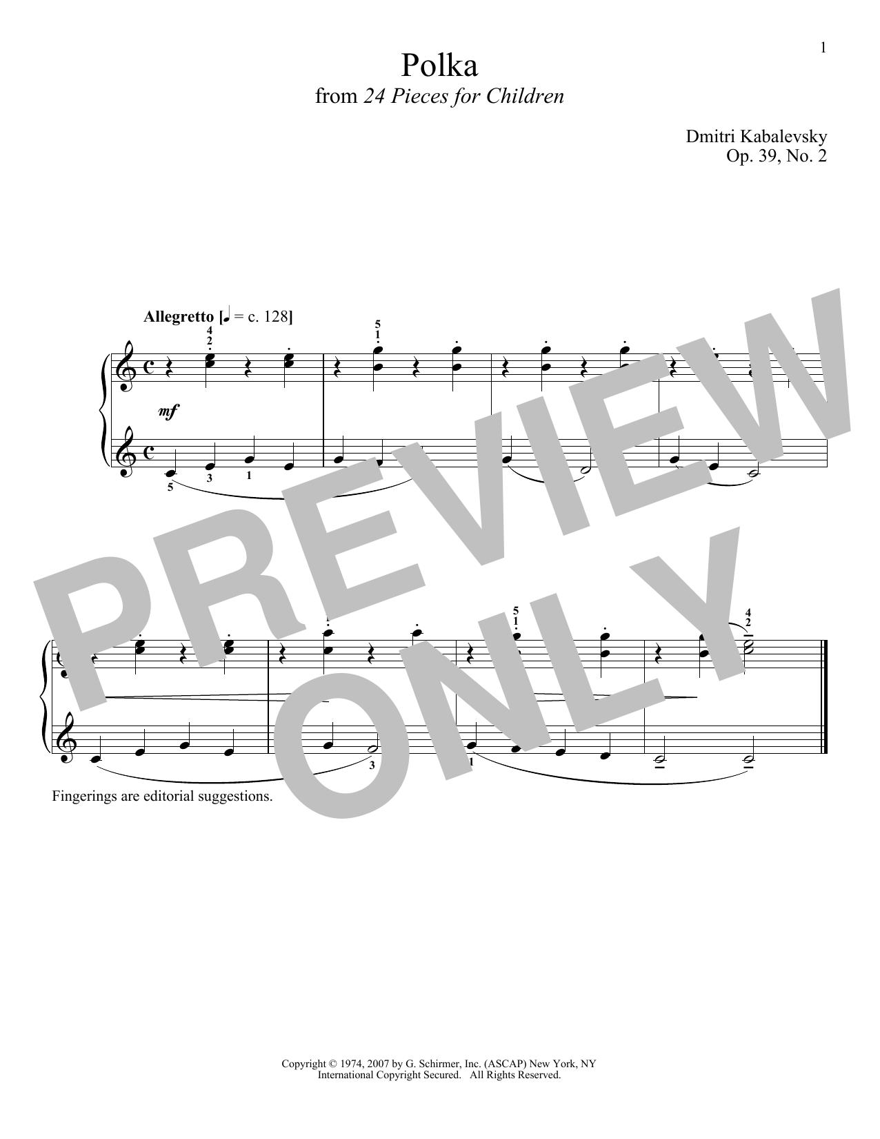 Polka, Op. 39, No. 2 (Piano Solo)