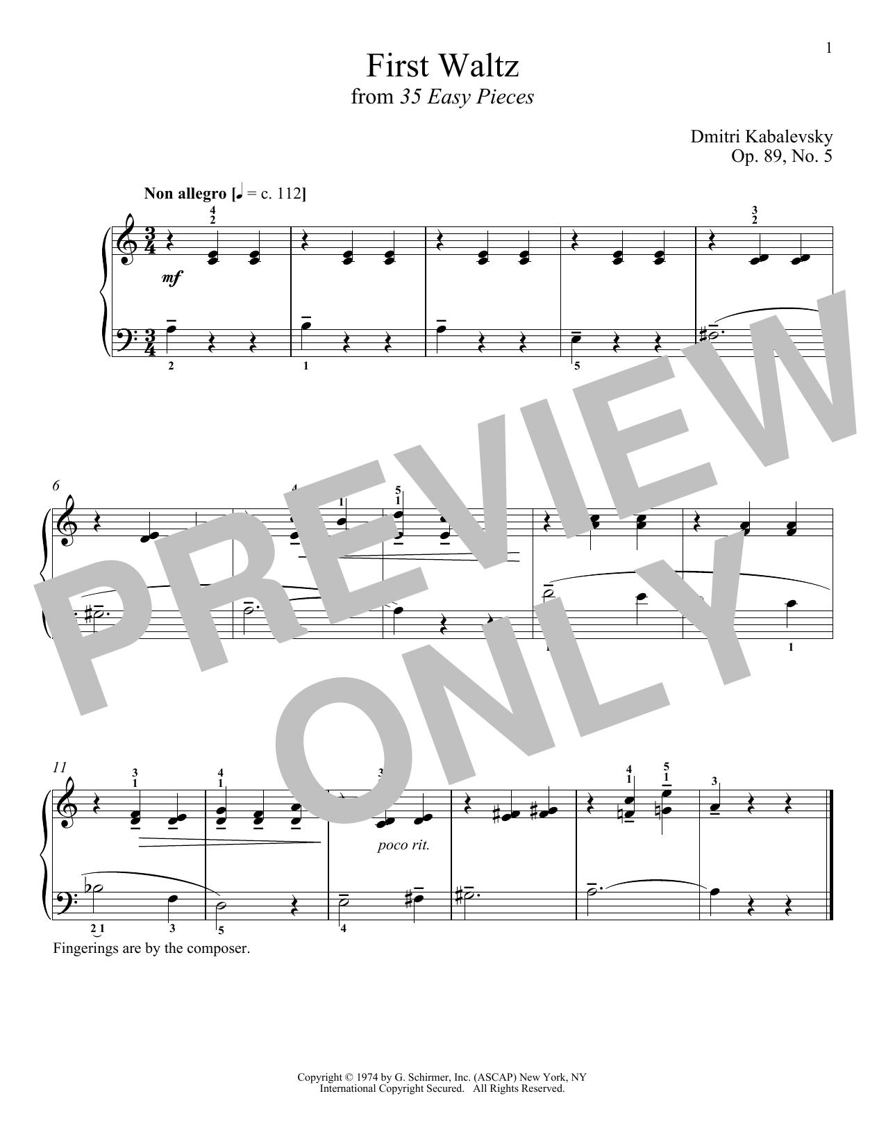 First Waltz (Piano Solo)