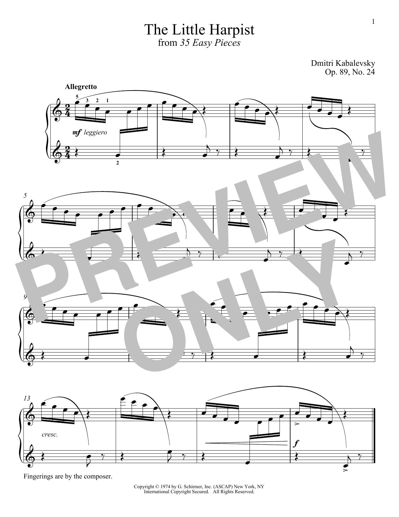 The Little Harpist, Op. 89, No. 24 (Piano Solo)