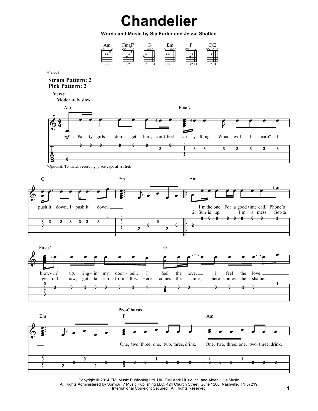 Chandelier | Sheet Music Direct