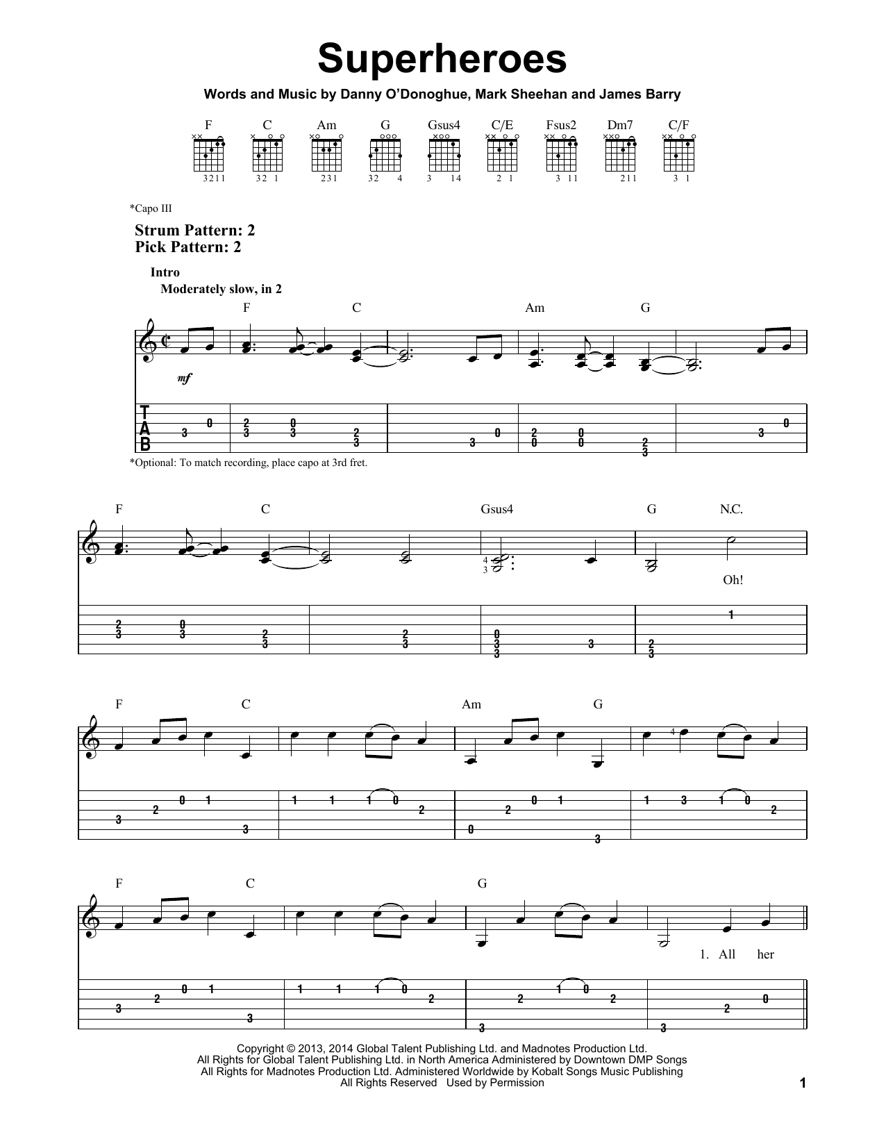 Superheroes Sheet Music