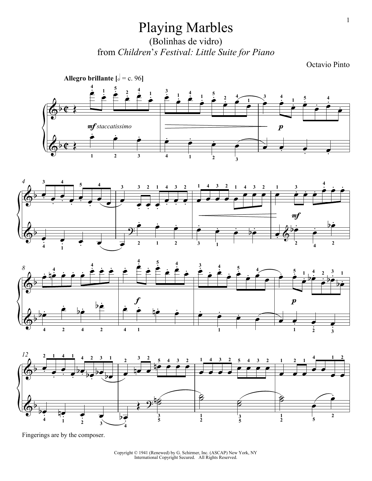Playing Marbles Sheet Music