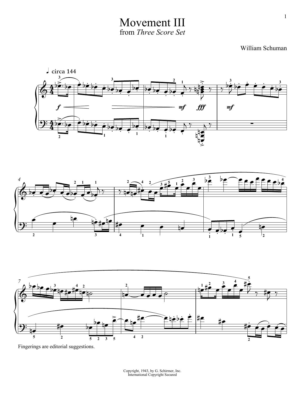 Movement III (Piano Solo)
