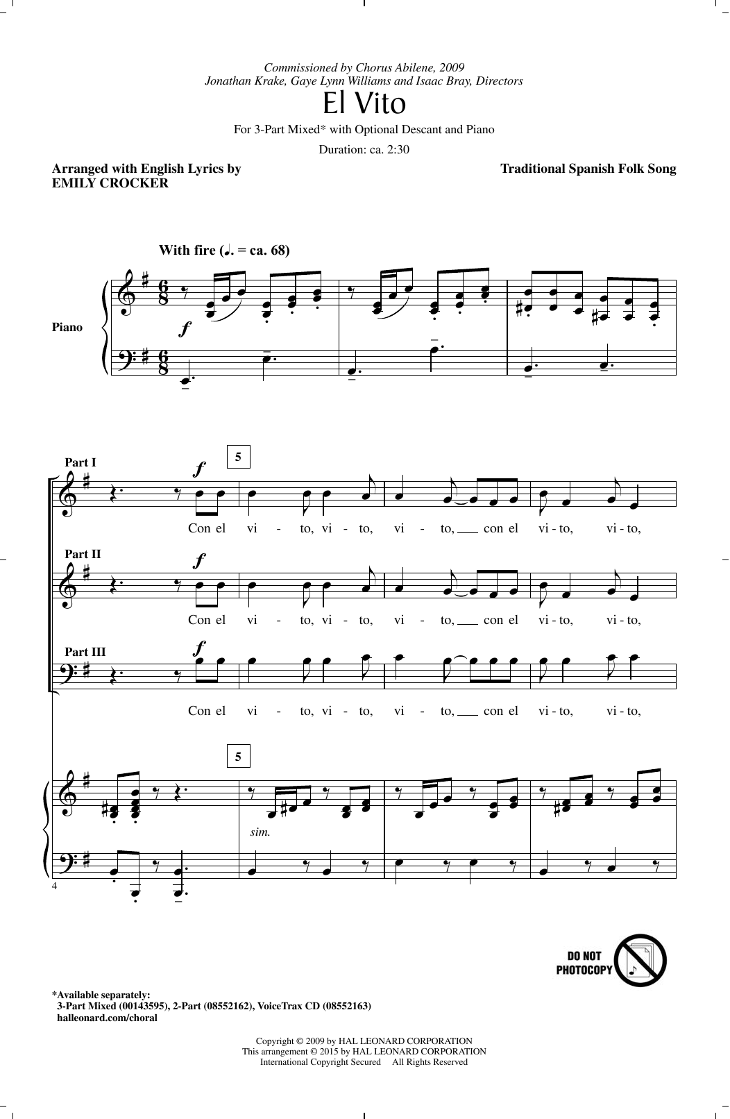 El Vito (arr. Emily Crocker) Sheet Music