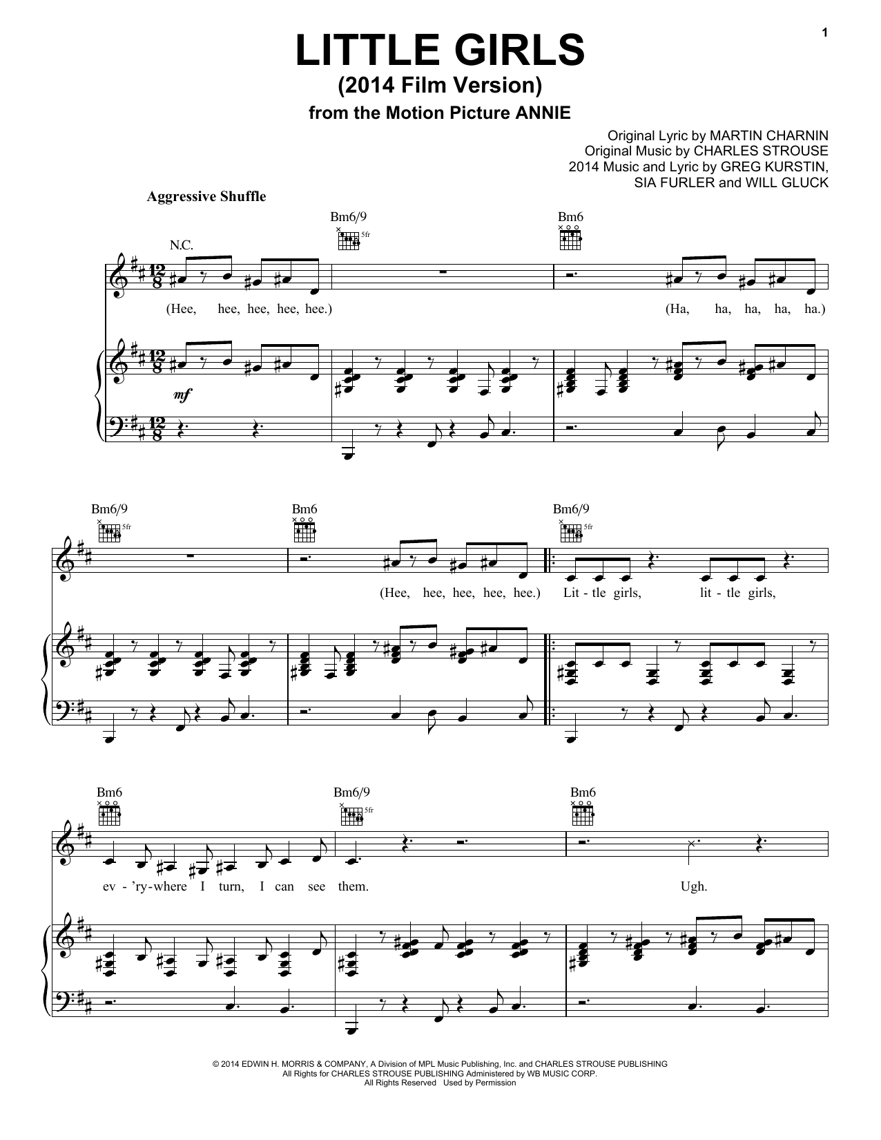 Little Girls (from 'Annie' 2014 Film Version) Sheet Music