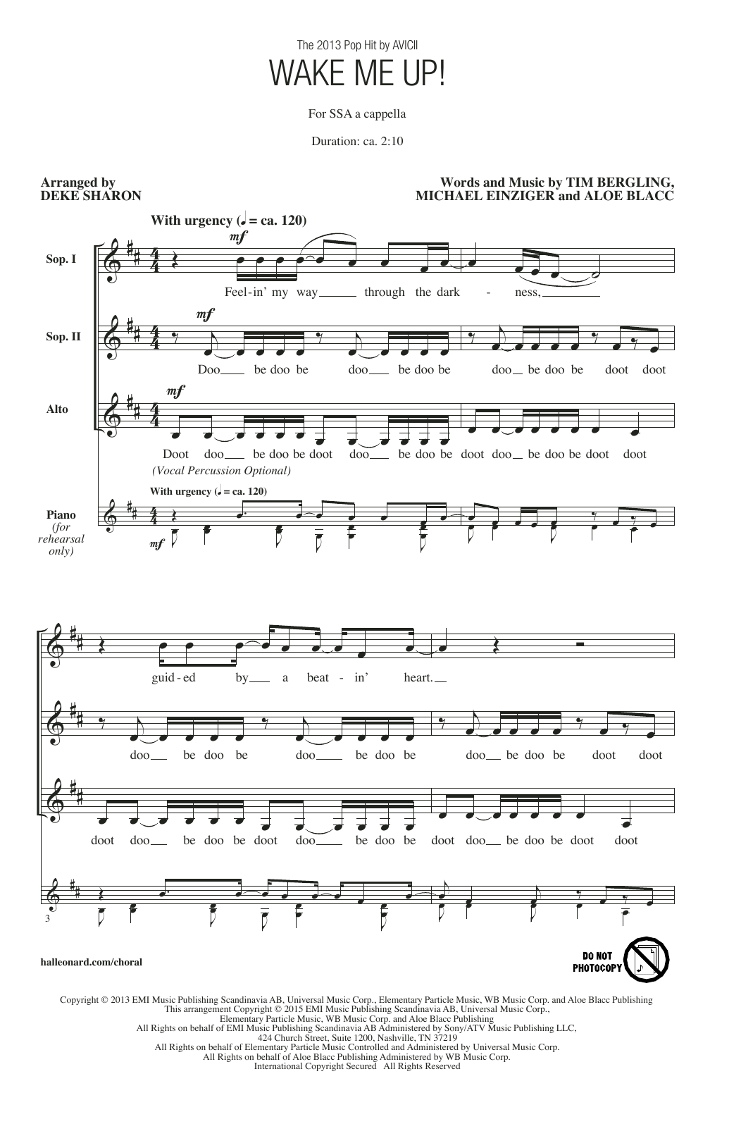 Wake Me Up! Sheet Music