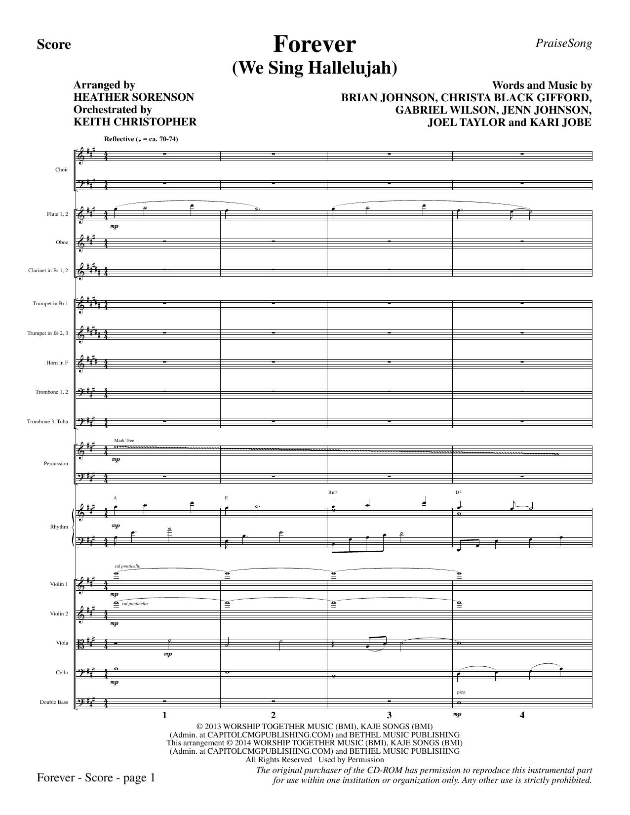 Forever (We Sing Hallelujah) - Full Score Sheet Music