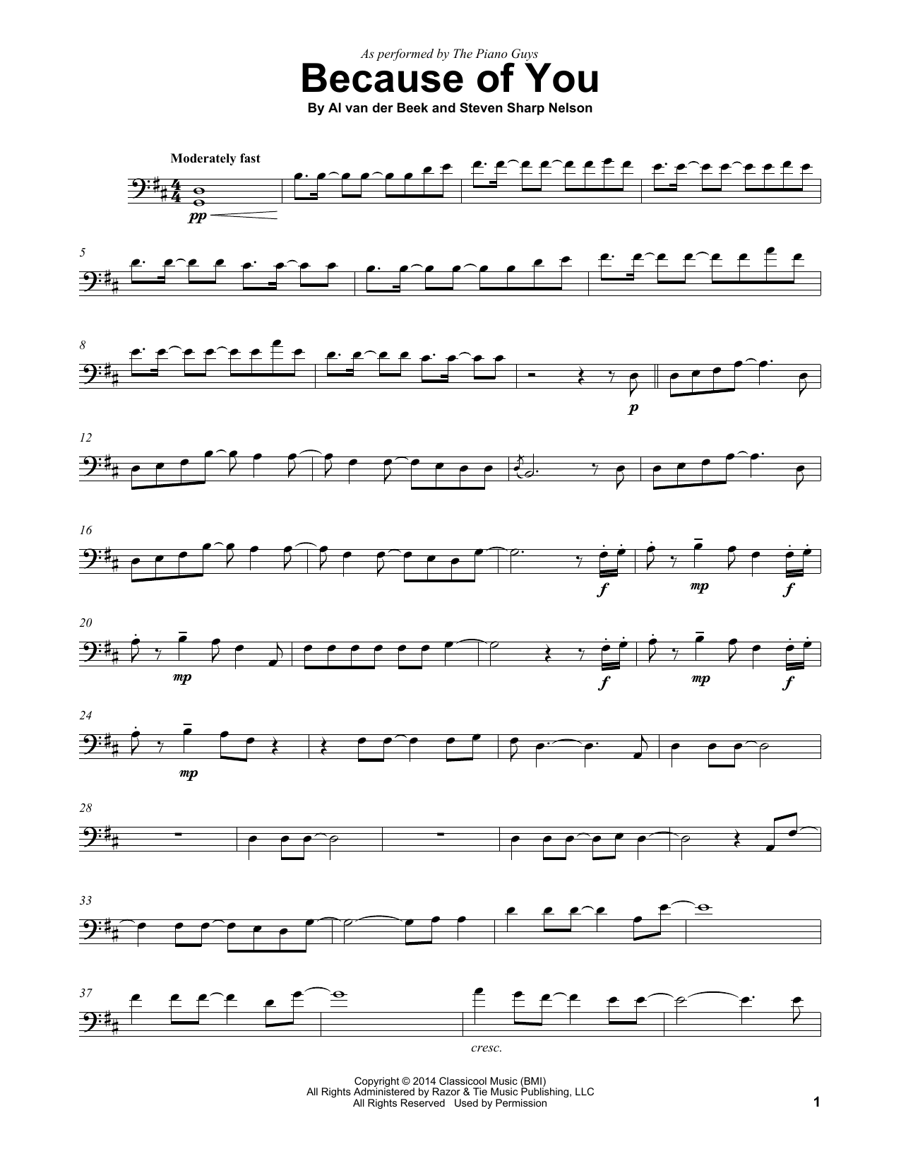 Because Of You (Cello Solo)