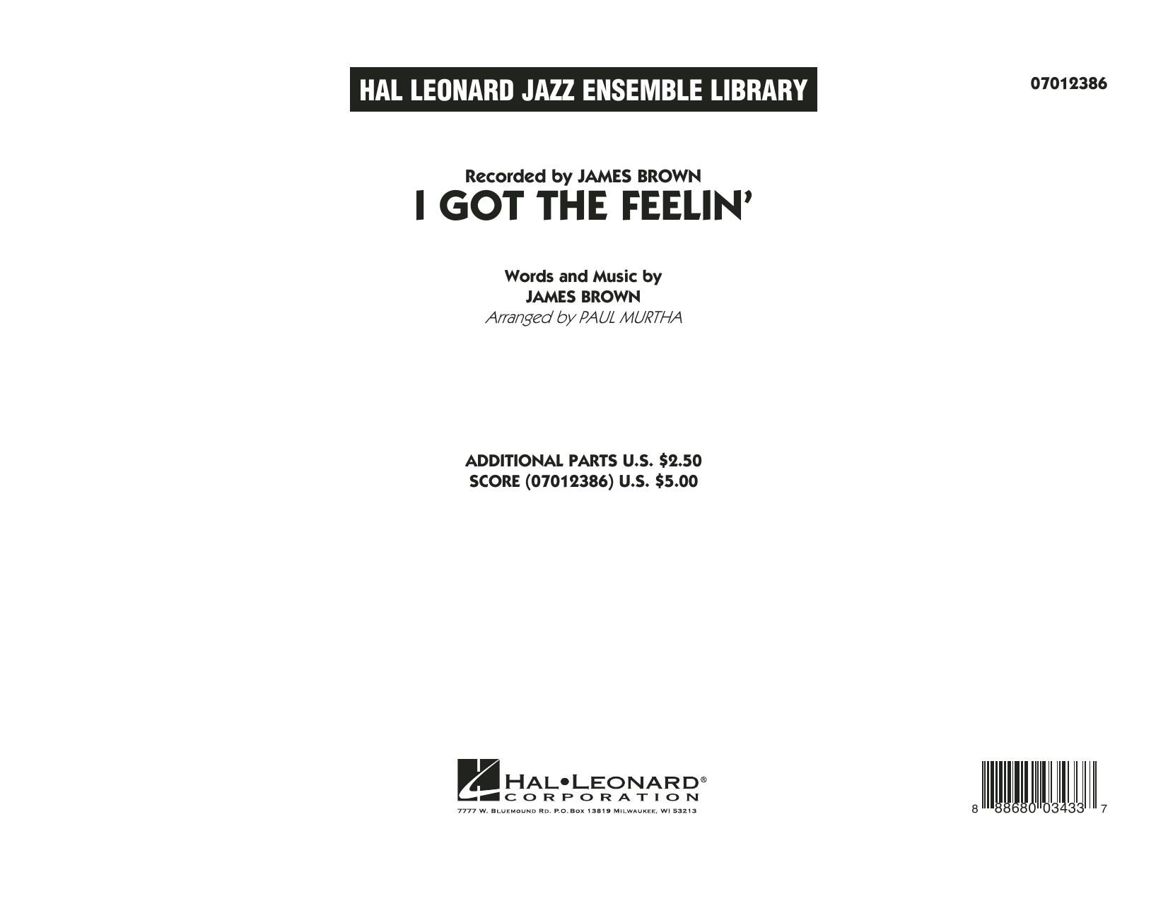 I Got The Feelin' - Conductor Score (Full Score) (Jazz Ensemble)