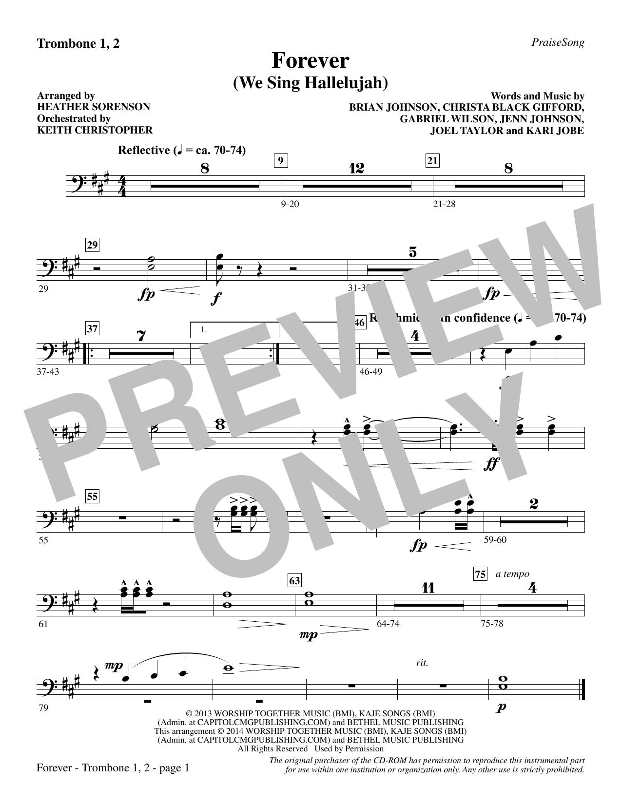 Forever (We Sing Hallelujah) - Trombone 1 & 2 (Choir Instrumental Pak)