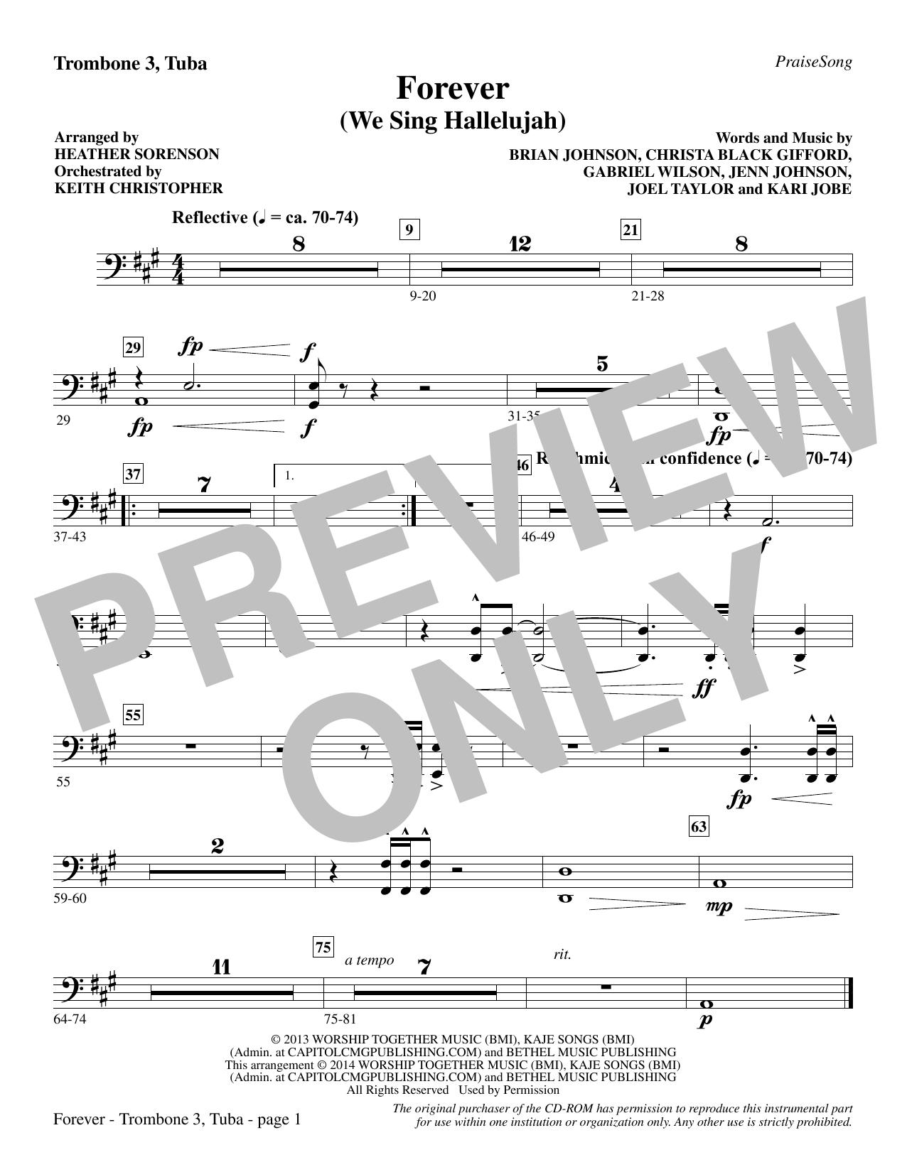 Forever (We Sing Hallelujah) - Trombone 3/Tuba (Choir Instrumental Pak)