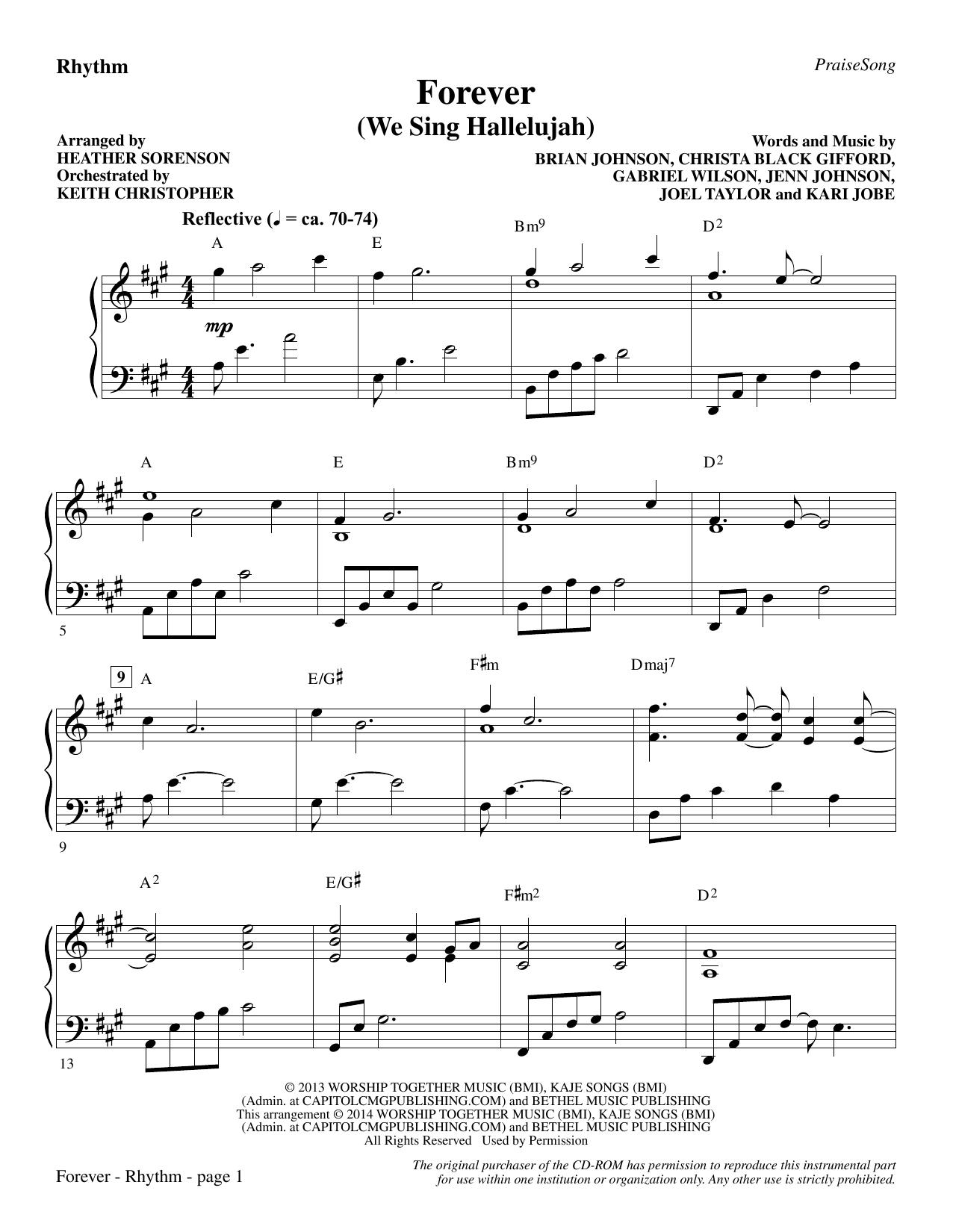 Forever (We Sing Hallelujah) - Rhythm (Choir Instrumental Pak)