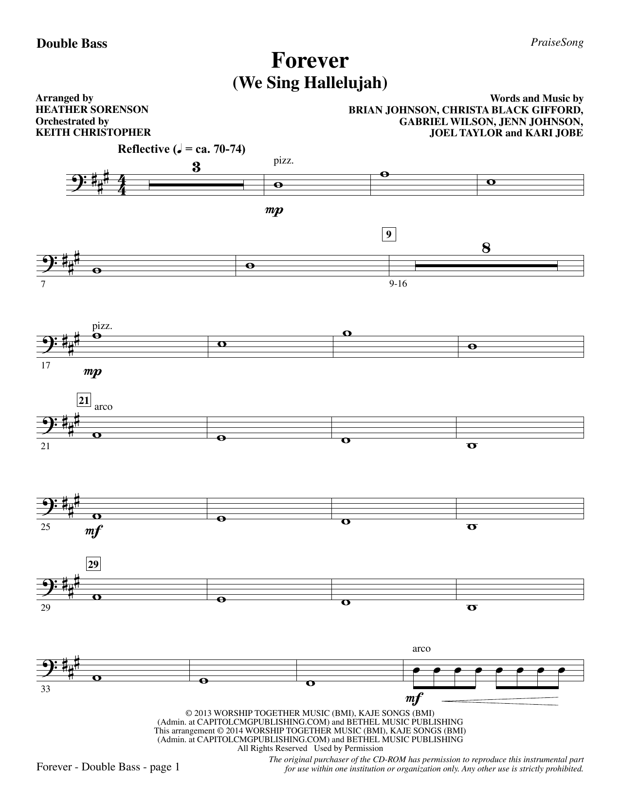 Forever (We Sing Hallelujah) - Double Bass Sheet Music