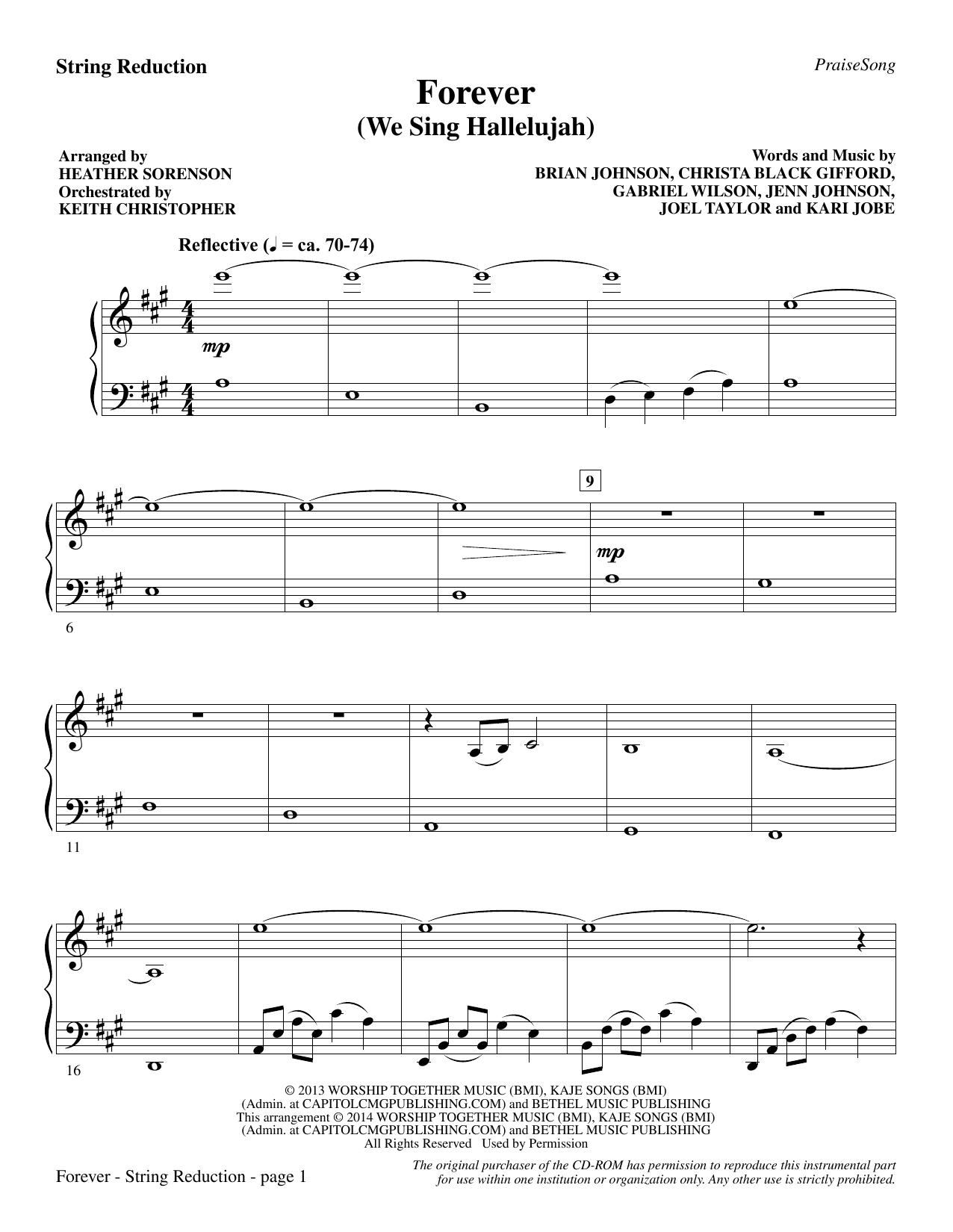 Forever (We Sing Hallelujah) - Keyboard String Reduction Sheet Music