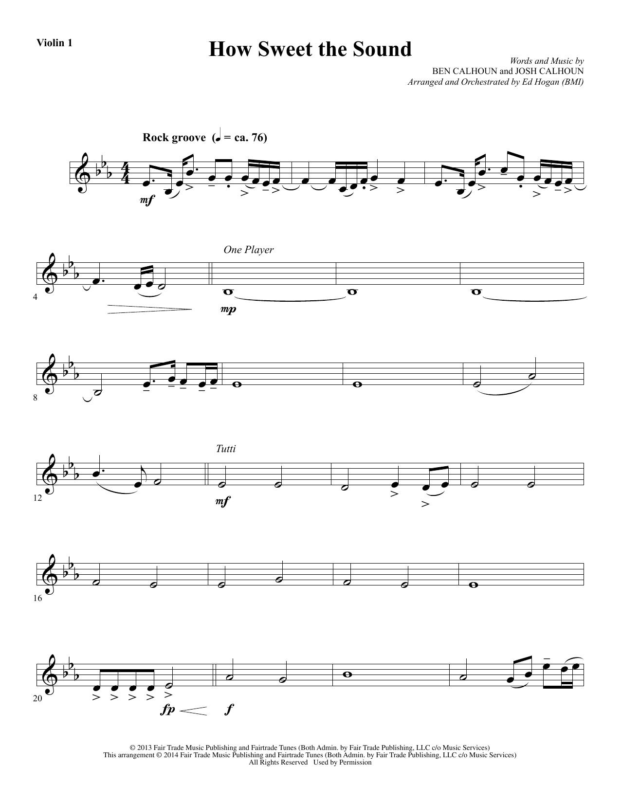 How Sweet the Sound - Violin 1 (Choir Instrumental Pak)