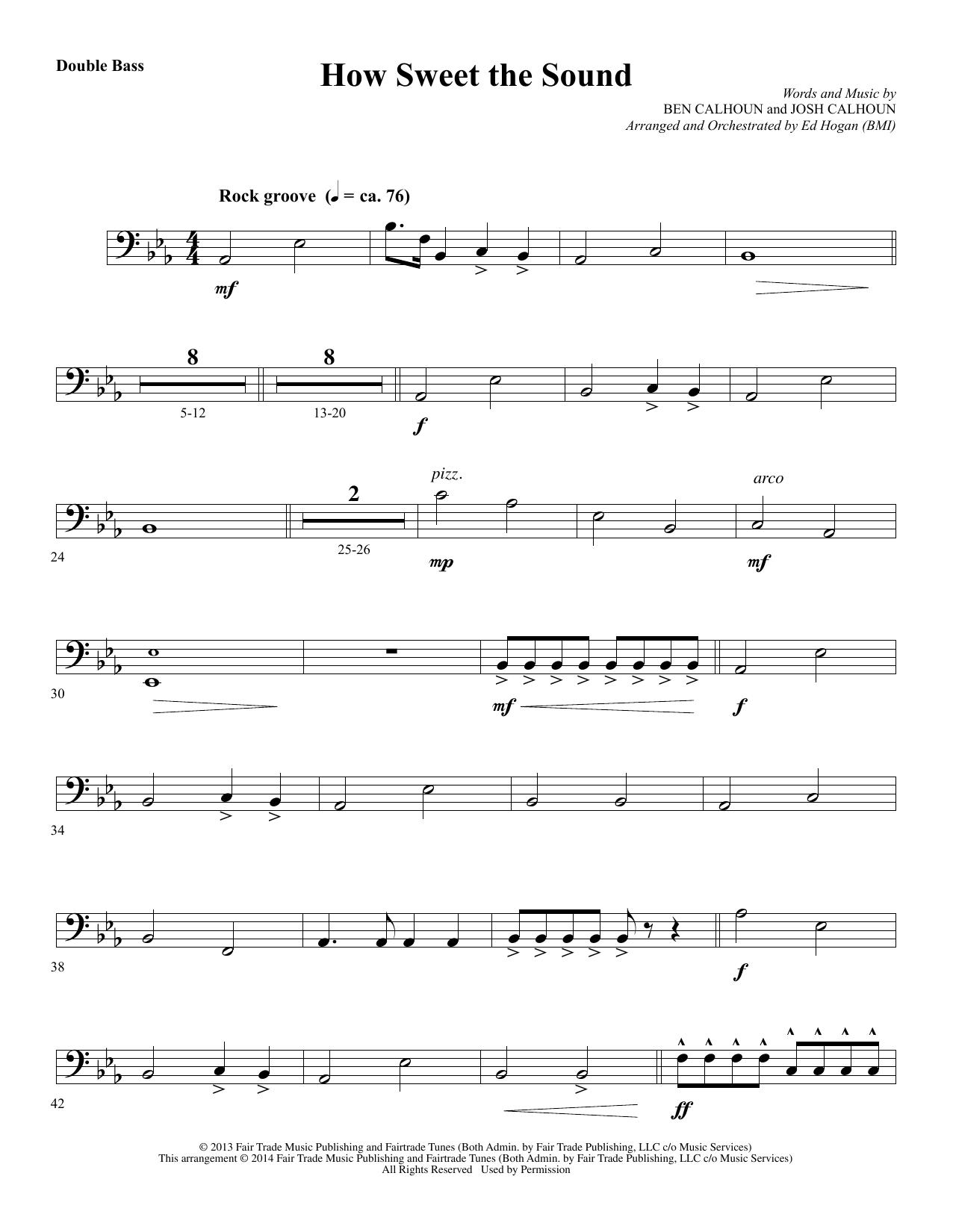 How Sweet the Sound - Double Bass (Choir Instrumental Pak)