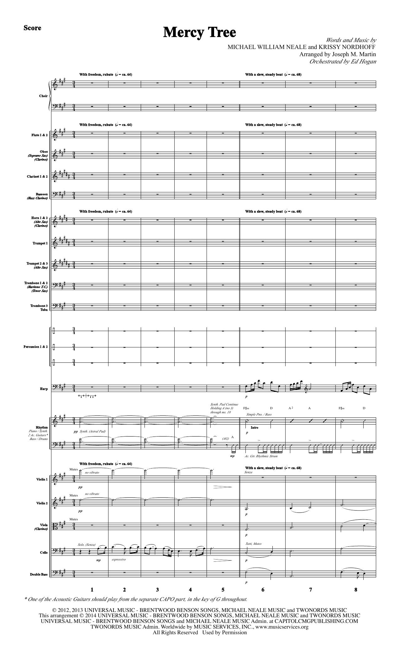 Mercy Tree - Full Score (Choir Instrumental Pak)