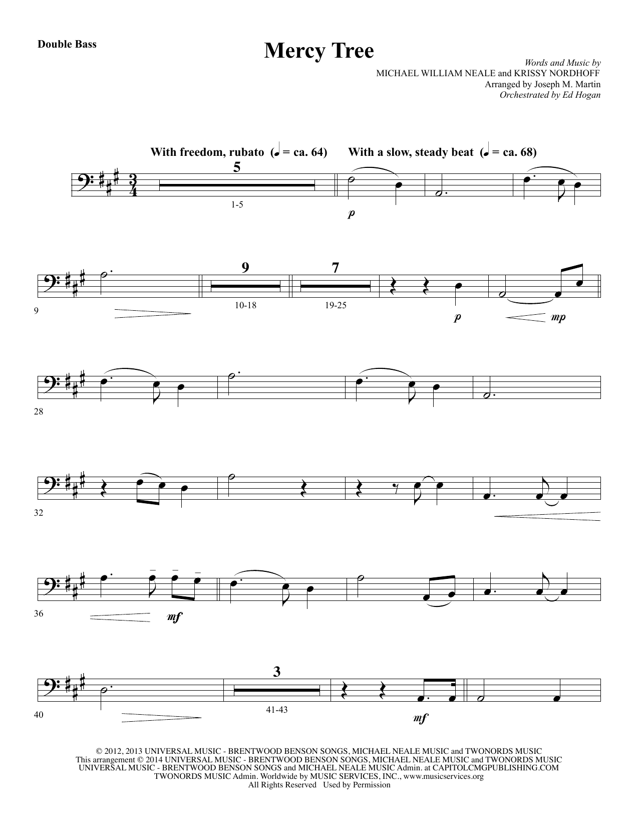 Mercy Tree - Double Bass Sheet Music