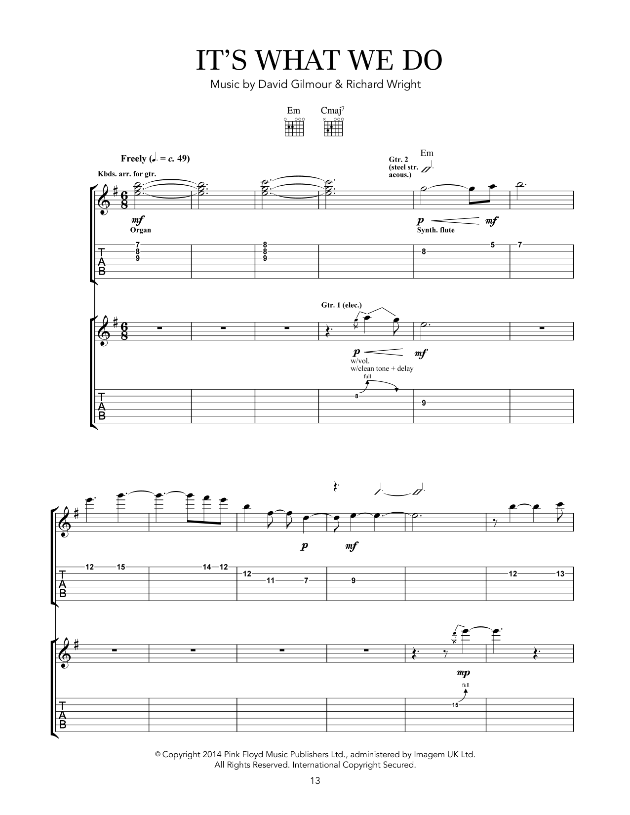 It's What We Do Sheet Music