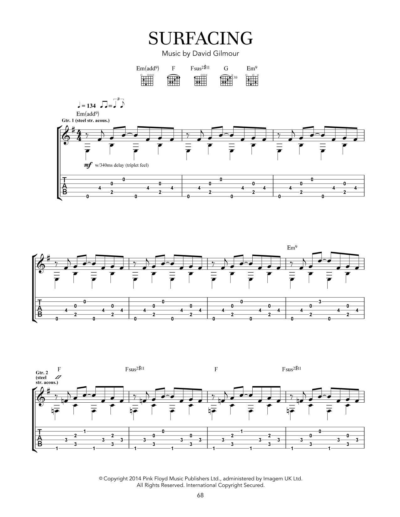 Surfacing Sheet Music